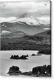 Acrylic Print featuring the photograph Black And White Breckenridge by Dan Sproul