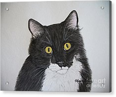Black And White Cat Acrylic Print
