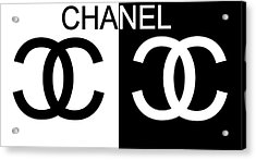 Black And White Chanel Acrylic Print