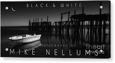 Black And White Coffee Table Book Cover Acrylic Print