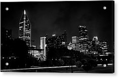 Black And White Downtown Acrylic Print