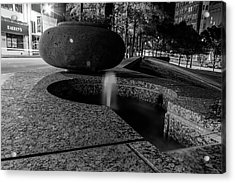 Black And White Fountain Acrylic Print