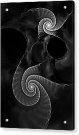 Black And White Fractal 080810 Acrylic Print