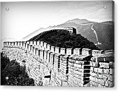 Black And White Great Wall Acrylic Print by Alessandro Giorgi Art Photography