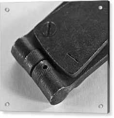 Black And White Handheld Holepunch Acrylic Print by Wilma  Birdwell