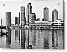 Black And White In The Heart Of Tampa Bay Acrylic Print by Frozen in Time Fine Art Photography