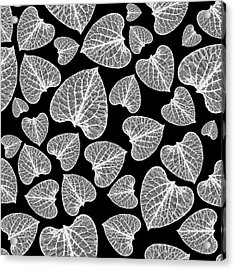 Black And White Leaf Abstract Acrylic Print
