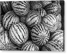 Black And White Mellons Acrylic Print