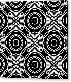 Black And White Modern Roses- Pattern Art By Linda Woods Acrylic Print