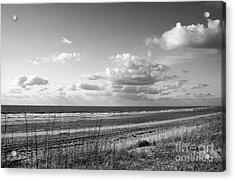 Black And White Ocean Scene Acrylic Print