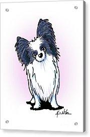 Black And White Papillon Acrylic Print by Kim Niles