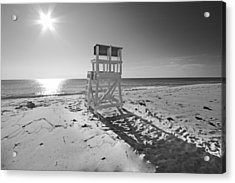 Black And White Photography The Beach Acrylic Print by Dapixara Art