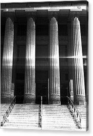 Black And White Pillars Acrylic Print by Phil Perkins