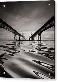 Black And White Reflections Acrylic Print by Jennifer Casey
