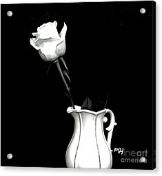 Acrylic Print featuring the photograph Black And White Rose Three by Marsha Heiken