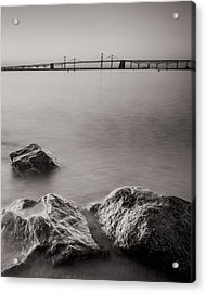 Black And White Sandy Point Acrylic Print