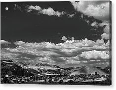Black And White Small Town  Acrylic Print by Jingjits Photography