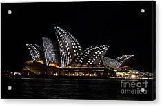 Black And White Spotty Sails Acrylic Print