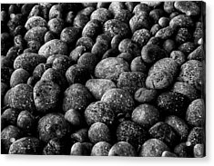 Acrylic Print featuring the photograph Black And White Stones Two by Kevin Blackburn