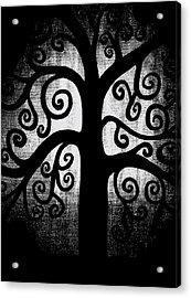 Black And White Tree Acrylic Print by Angelina Vick