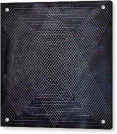 Black And White Triangular Line Art Acrylic Print