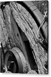 Black And White Wagon Wheel 1 Acrylic Print