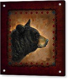 Black Bear Lodge Acrylic Print by JQ Licensing