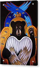 Black Bear Seraphim Acrylic Print by Christina Miller