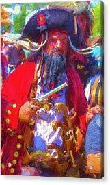 Black Beard Pirate Acrylic Print by Garry Gay