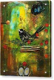 Black Bird Come Home Acrylic Print by Ishita Bandyo