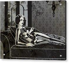 Black Blanche Acrylic Print