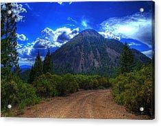 Black Butte Acrylic Print by Tom Melo