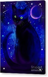 Acrylic Print featuring the painting Black Cat Blues  by Nick Gustafson