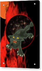 Black Cat Magic Acrylic Print