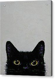 Black Cat Acrylic Print by Michael Creese
