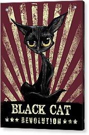 Black Cat Revolution Acrylic Print
