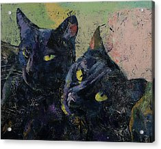 Black Cats Acrylic Print by Michael Creese