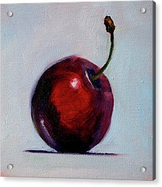 Acrylic Print featuring the painting black Cherry by Nancy Merkle