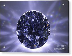 Black Diamond Shine Aura. Acrylic Print by Atiketta Sangasaeng