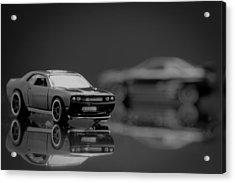 Black Dodge Challenger Acrylic Print