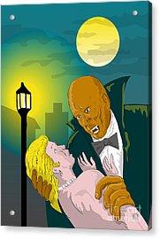 Black Dracula Acrylic Print by Aloysius Patrimonio