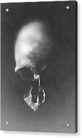 Black Erosion Acrylic Print by Joseph Westrupp