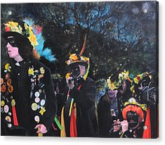 Black Face Mummers Acrylic Print by Harry Robertson