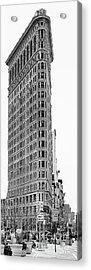 Black Flatiron Building II Acrylic Print by Chuck Kuhn