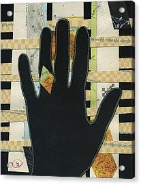 Black Hand Collage Acrylic Print
