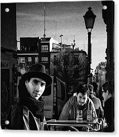 Black Hat Man  #portrait Acrylic Print by Rafa Rivas