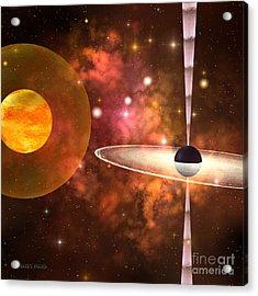 Black Hole Acrylic Print by Corey Ford