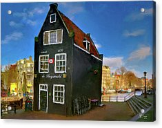 Acrylic Print featuring the photograph Black House In Jodenbreestraat #1. Amsterdam by Juan Carlos Ferro Duque