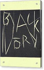 Black Ivory Title Page Acrylic Print