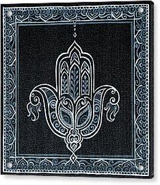 Black Khamsa Acrylic Print by Eleanor Hofer